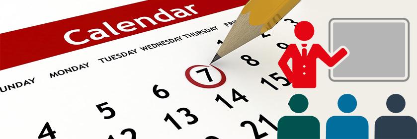 Calendario corsi Aprile