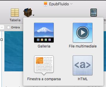 Widget ePub fluidi