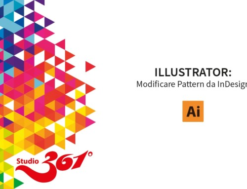 ILLUSTRATOR: Modificare Pattern da InDesign