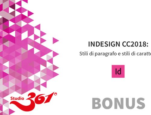 InDesign CC 2018: Stili di paragrafo e stili di carattere BONUS